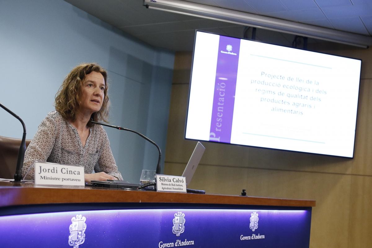 La ministra Sílvia Calvó va presentar ahir el text.
