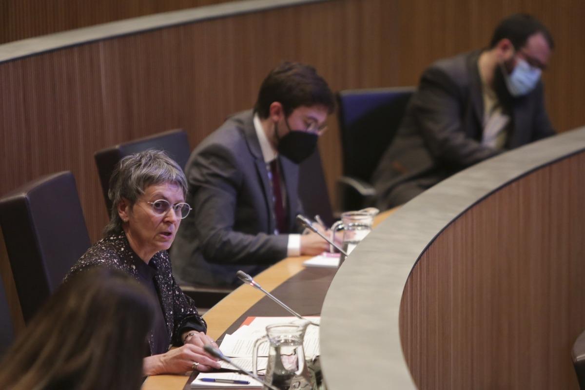 La parlamentària socialdemòcrata Susanna Vela en una intervenció ahir en la sessió de control al Govern al Consell General.