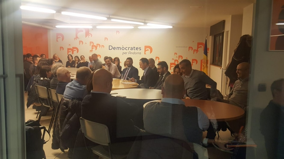 L'executiva de DA va comptar ahir amb l'assistència dels seus càrrecs electes.