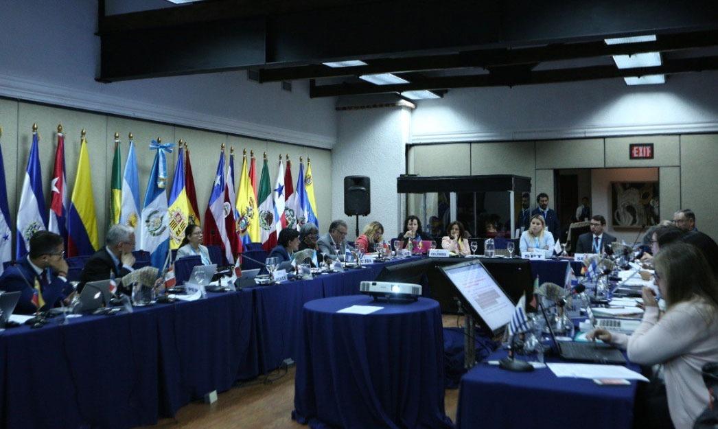 Un moment de la quarta reunió dels responsables de Cooperació iberoamericans.
