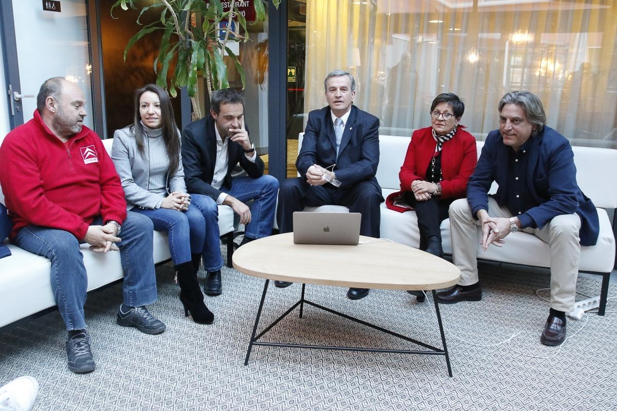 Ubach, Sorribes, Riba, Nomen, Mora i Gaytán en la presentació del projecte Andorra Sobirana.