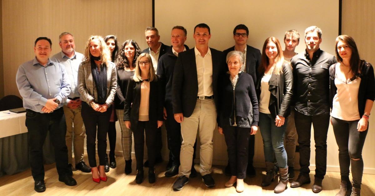 Els integrants de la candidatura nacional de Liberals d'Andorra, ahir després del congrés que va validar la llista i els eixos del programa.