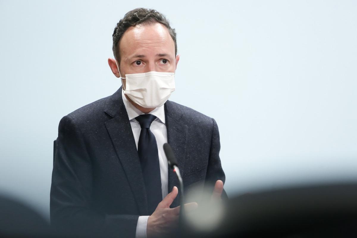 El cap de Govern, Xavier Espot, en la compareixença d'ahir a la tarda posterior al consell de ministres.