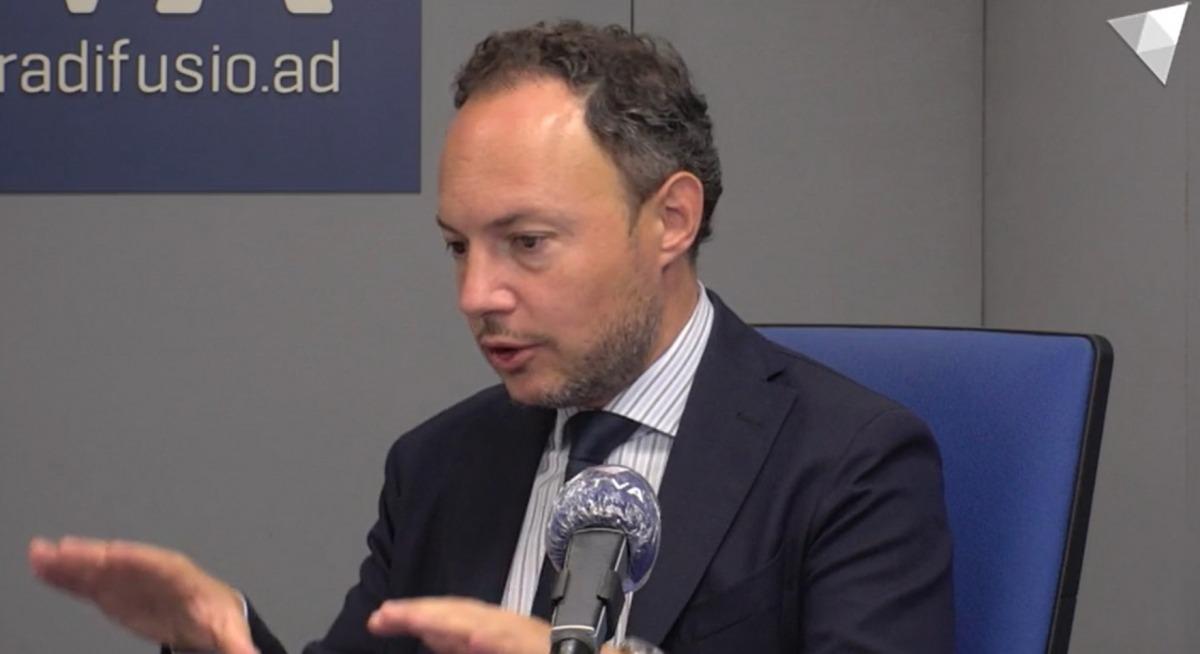 El cap de Govern, Xavier Espot, durant l'entrevista a 'Els matins de la Nacional' d'aquest matí.