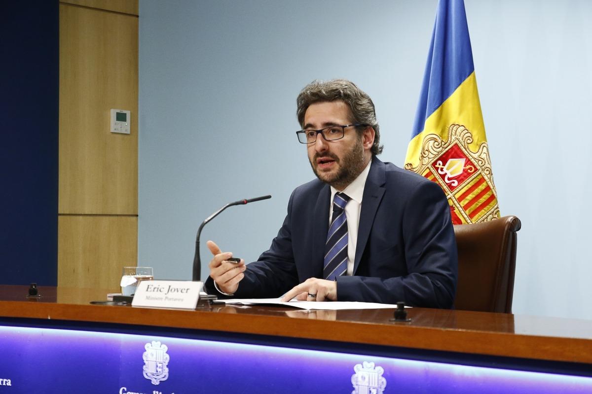 El portaveu de l'executiu, Eric Jover, en la compareixença posterior al consell de ministres d'ahir.