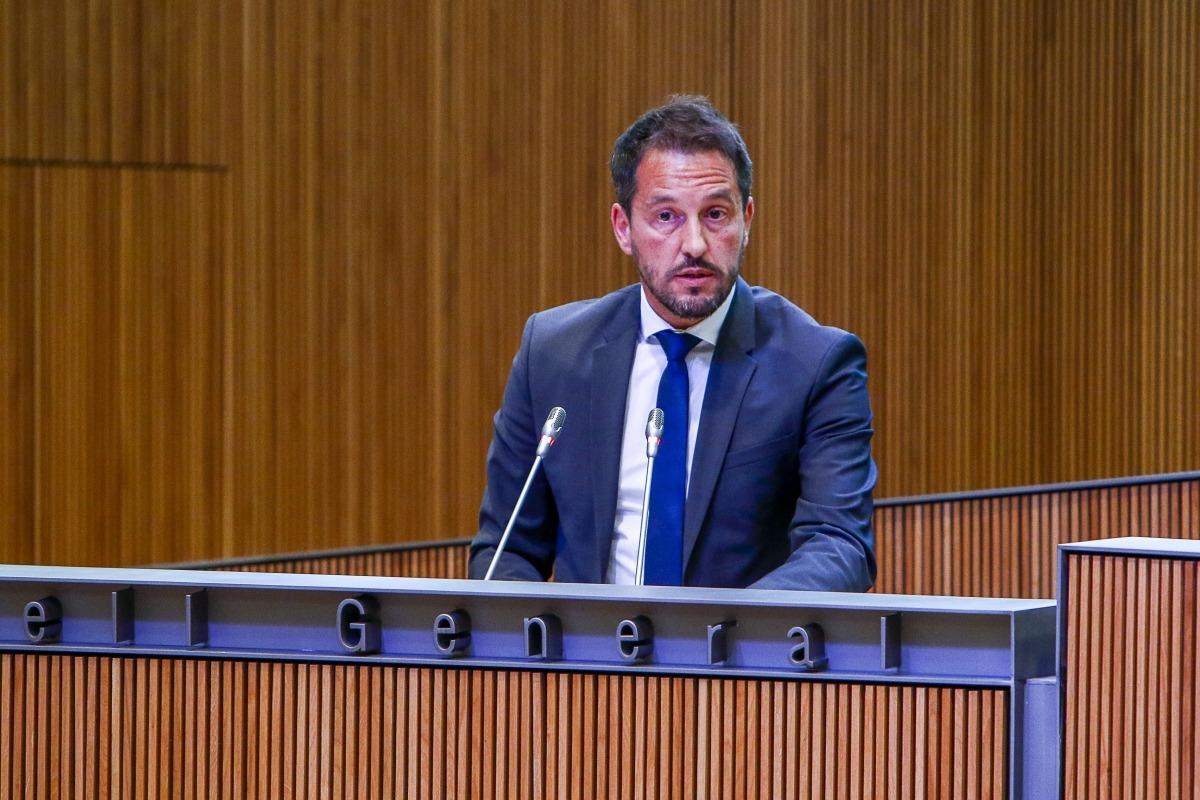 El president del grup socialdemòcrata, Pere López, considera que amb dotze ministeris no fan falta tantes secretaries d'Estat.