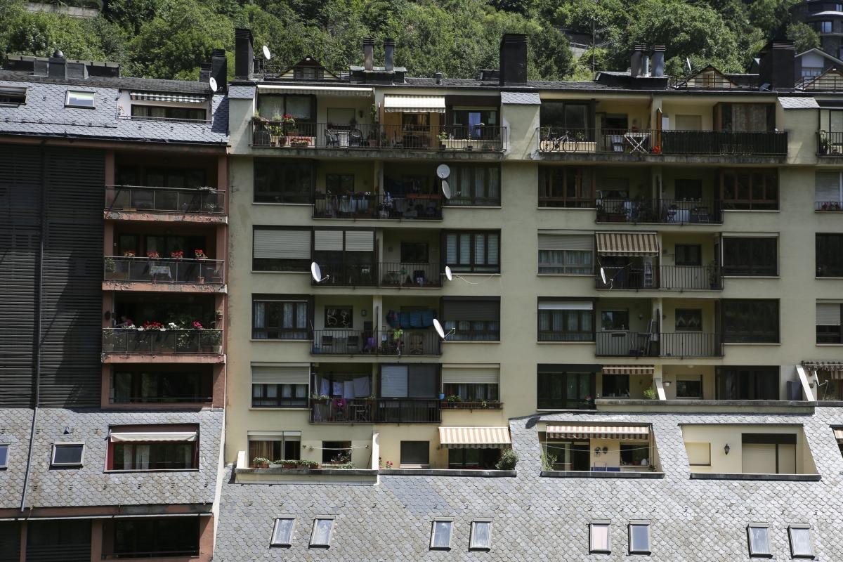 Uns edificis d'habitatges a Escaldes-Engordany.