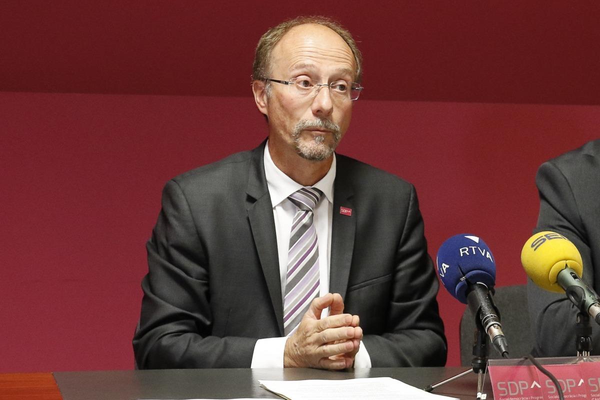 Víctor Naudi en una compareixença anterior.