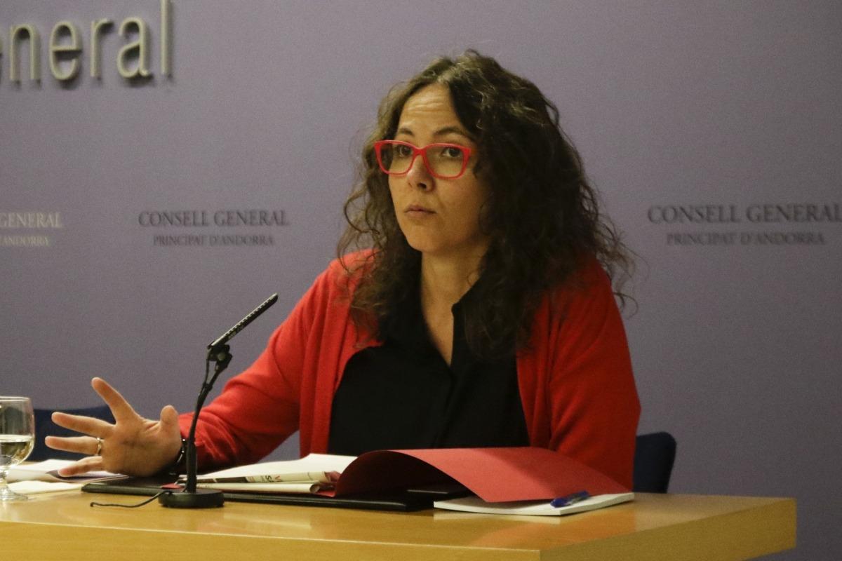 La presidenta suplent del grup socialdemòcrata, Judith Salazar.