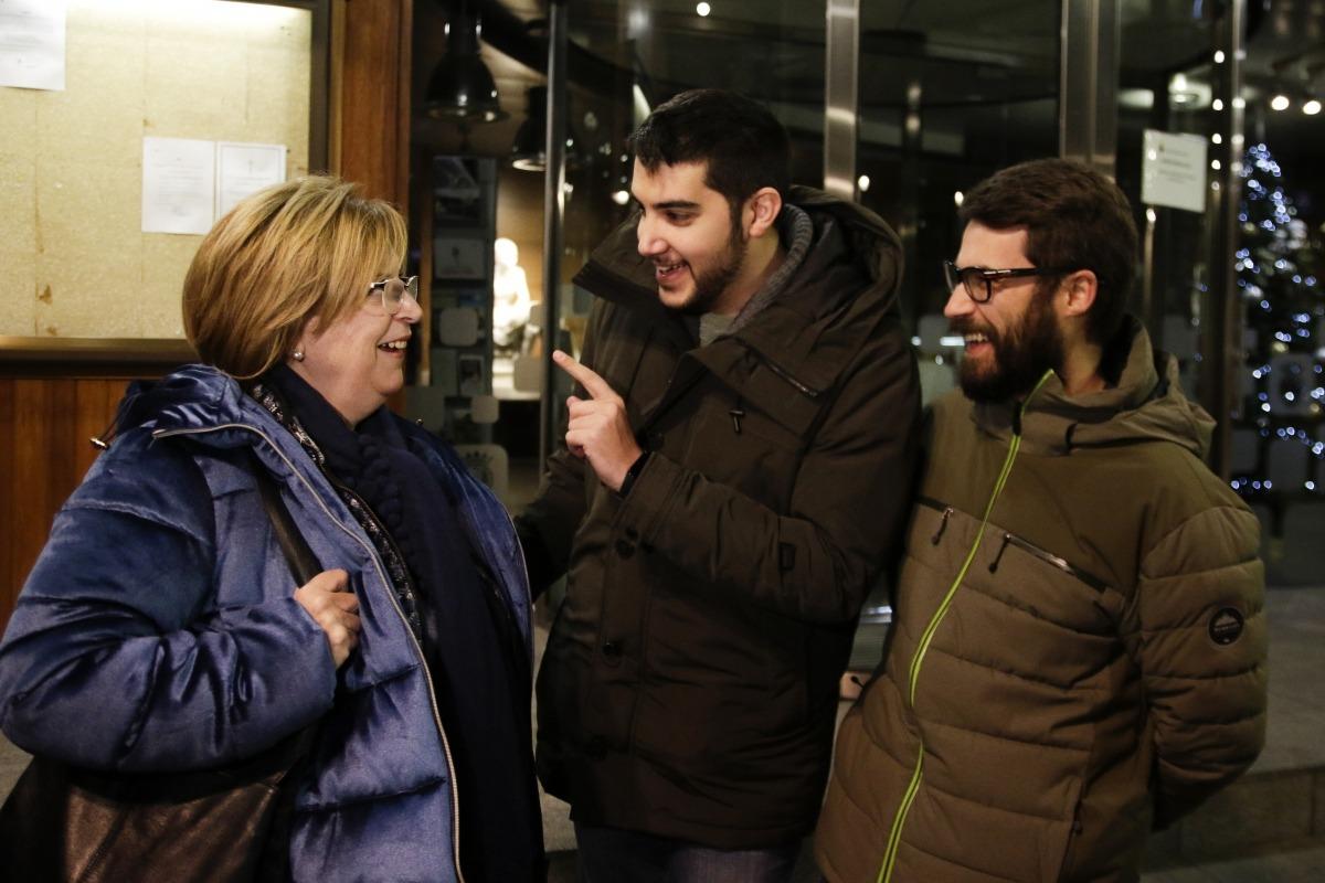Carmona, Baró i de Melo, ahir, davant de Casa Comuna.