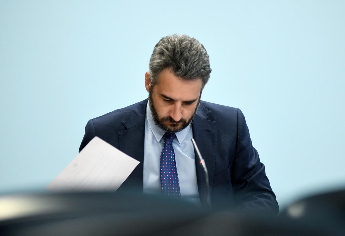 El ministre portaveu, Eric Jover, en la compareixença d'aquest dimecres a la tarda.