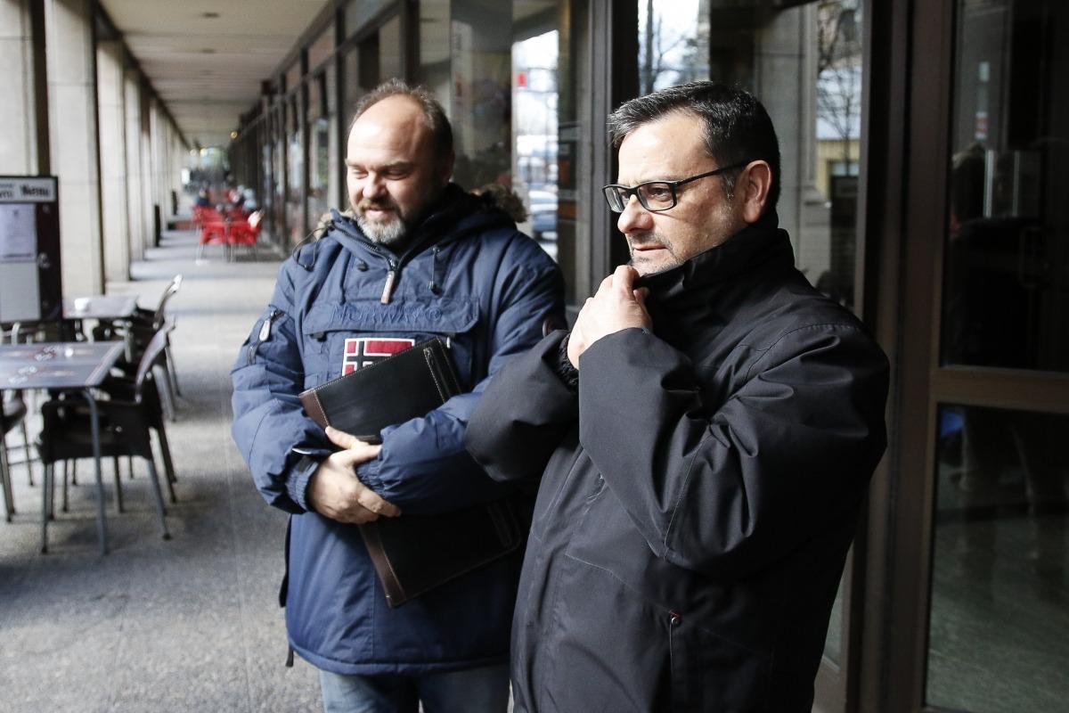 Gabriel Ubach (USdA) i Salvador Prieto (CFPA) el dia que van portar el cas a la fiscalia.
