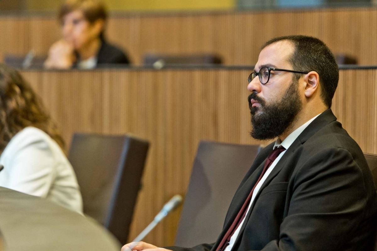 El conseller general socialdemòcrata Carles Sánchez en una sessió parlamentària.