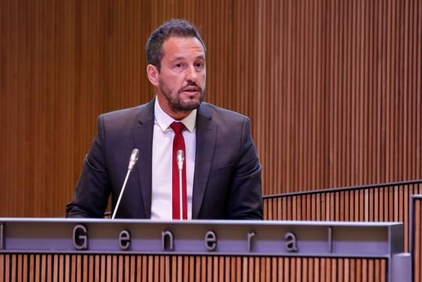 El president del grup socialdemòcrata, Pere López.
