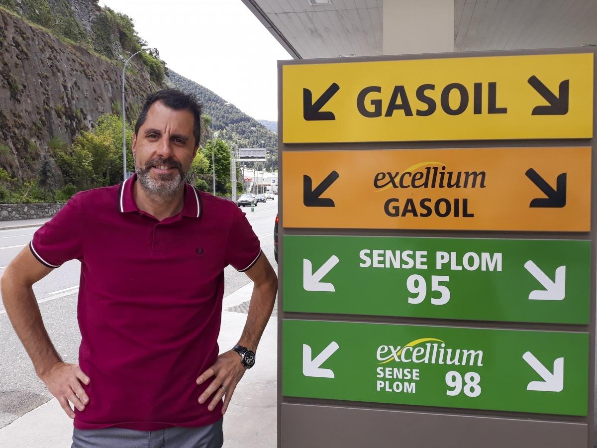 El president de l'Associació d'Importadors i Distribuïdors de Carburants d'Andorra, David Porqueres.