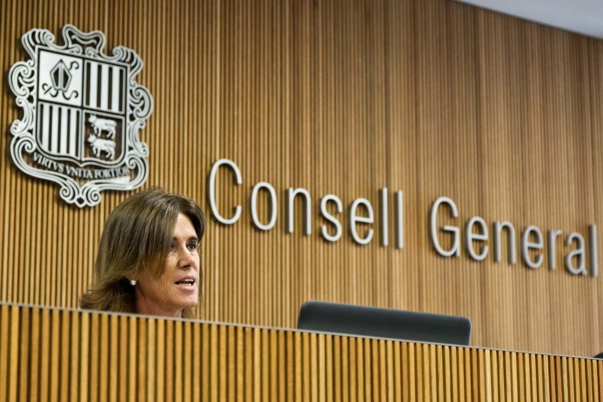 Vilarrubla durant la compareixença d'ahir a la tarda al Consell General.