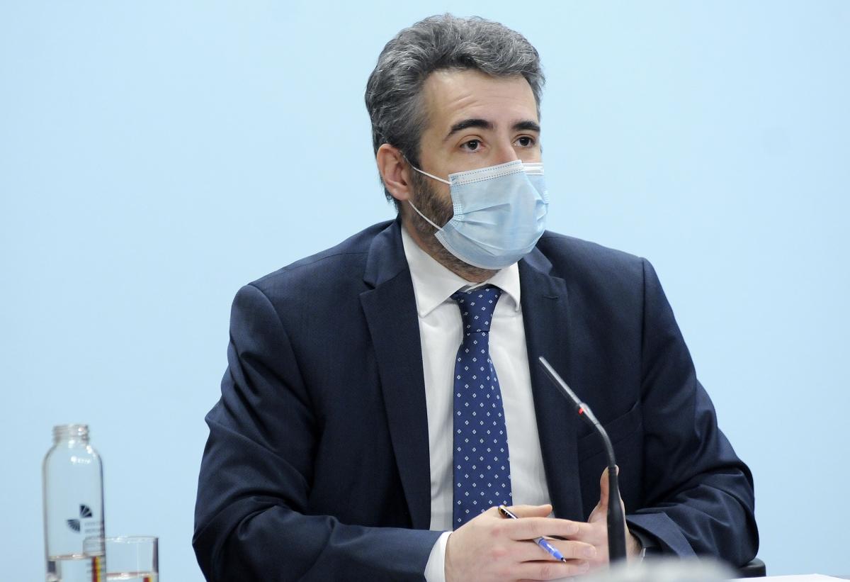 El ministre portaveu, Eric Jover, en la compareixença posterior al consell de ministres d'ahir.