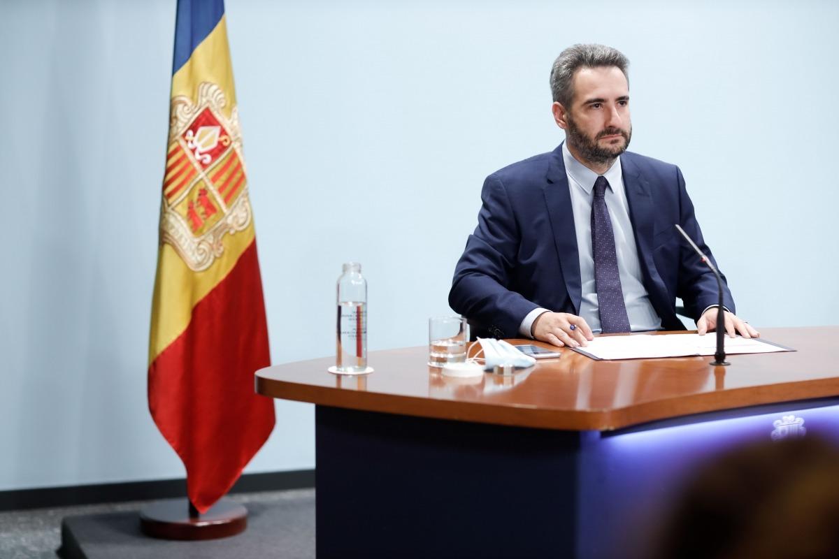 El portaveu del Govern, Eric Jover, ahir després del consell de ministres.