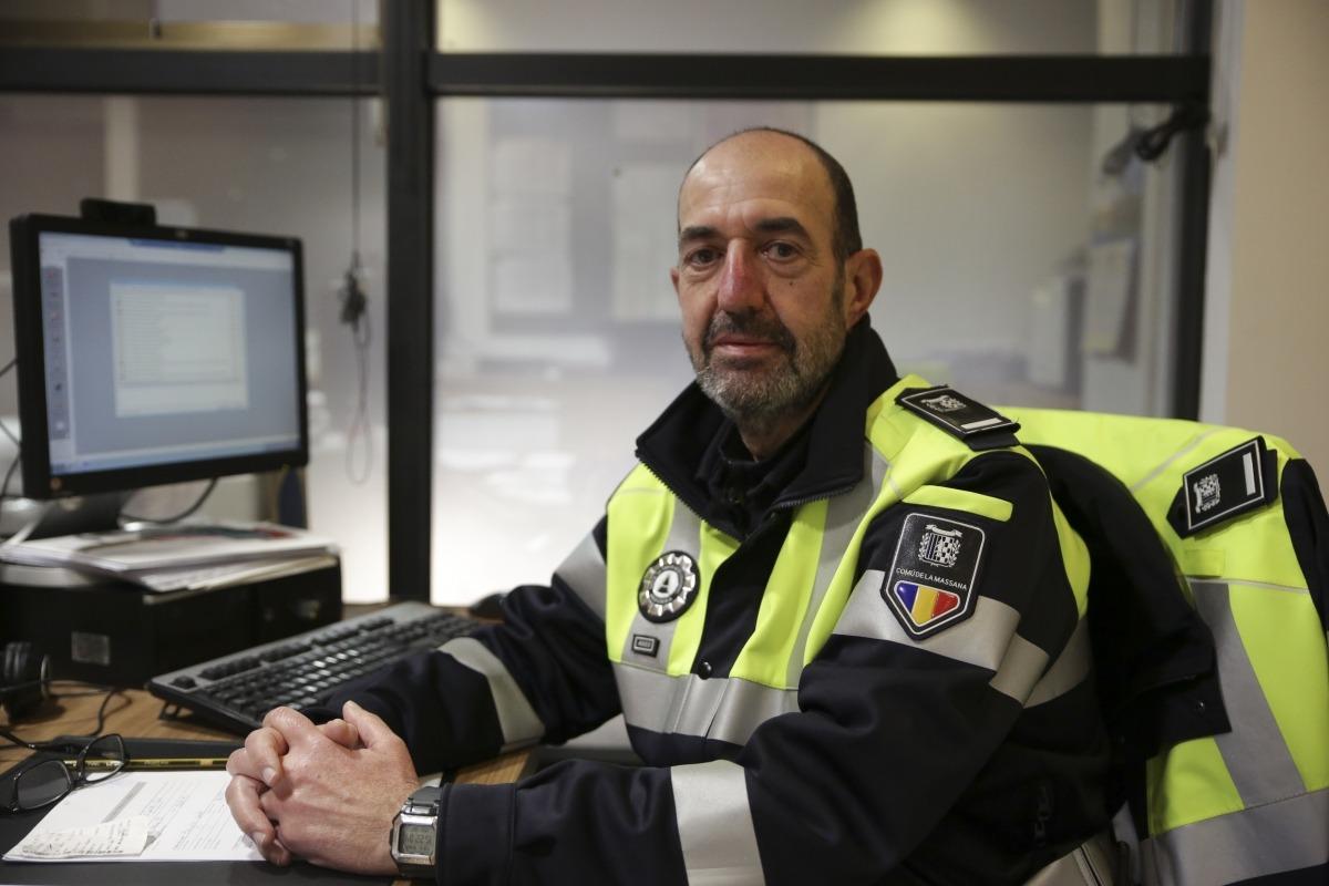 El cap de Circulació de la Massana, Robert Reñé.