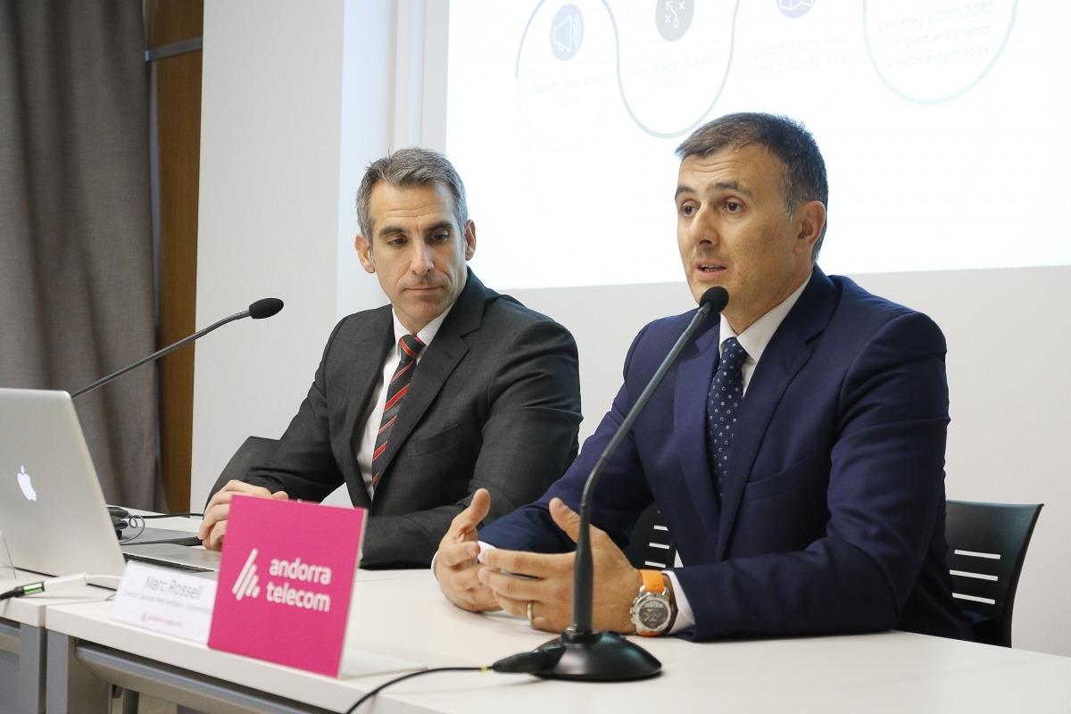 Cèsar Marquina i Marc Rossell van presentar el projecte, ahir a la tarda.
