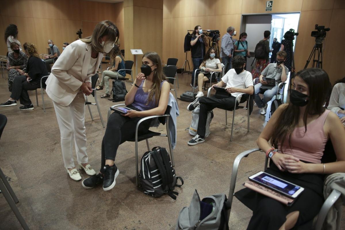 Un moment de la primera Jornada d'Emprenedoria celebrada ahir al Centre de Congressos d'Andorra la Vella.