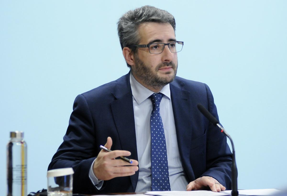 El ministre portaveu, Eric Jover, en la compareixença d'ahir.