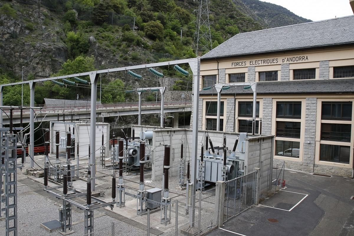 La central de Forces Elèctriques d'Andorra.