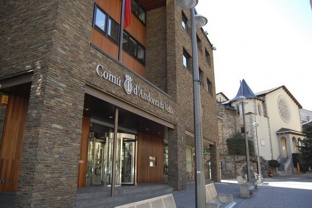Façana del Comú d'Andorra la Vella.