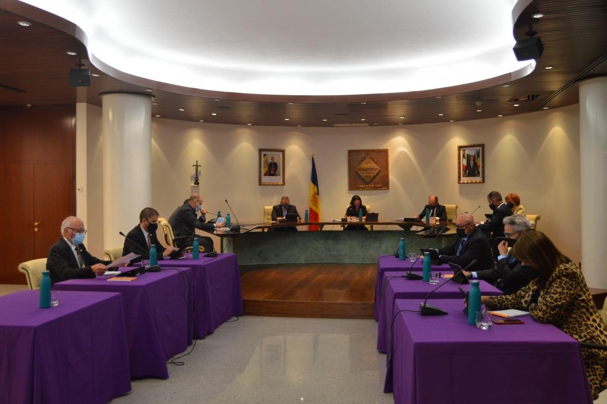 Un moment del Consell de Comú celebrat aquest dijous.