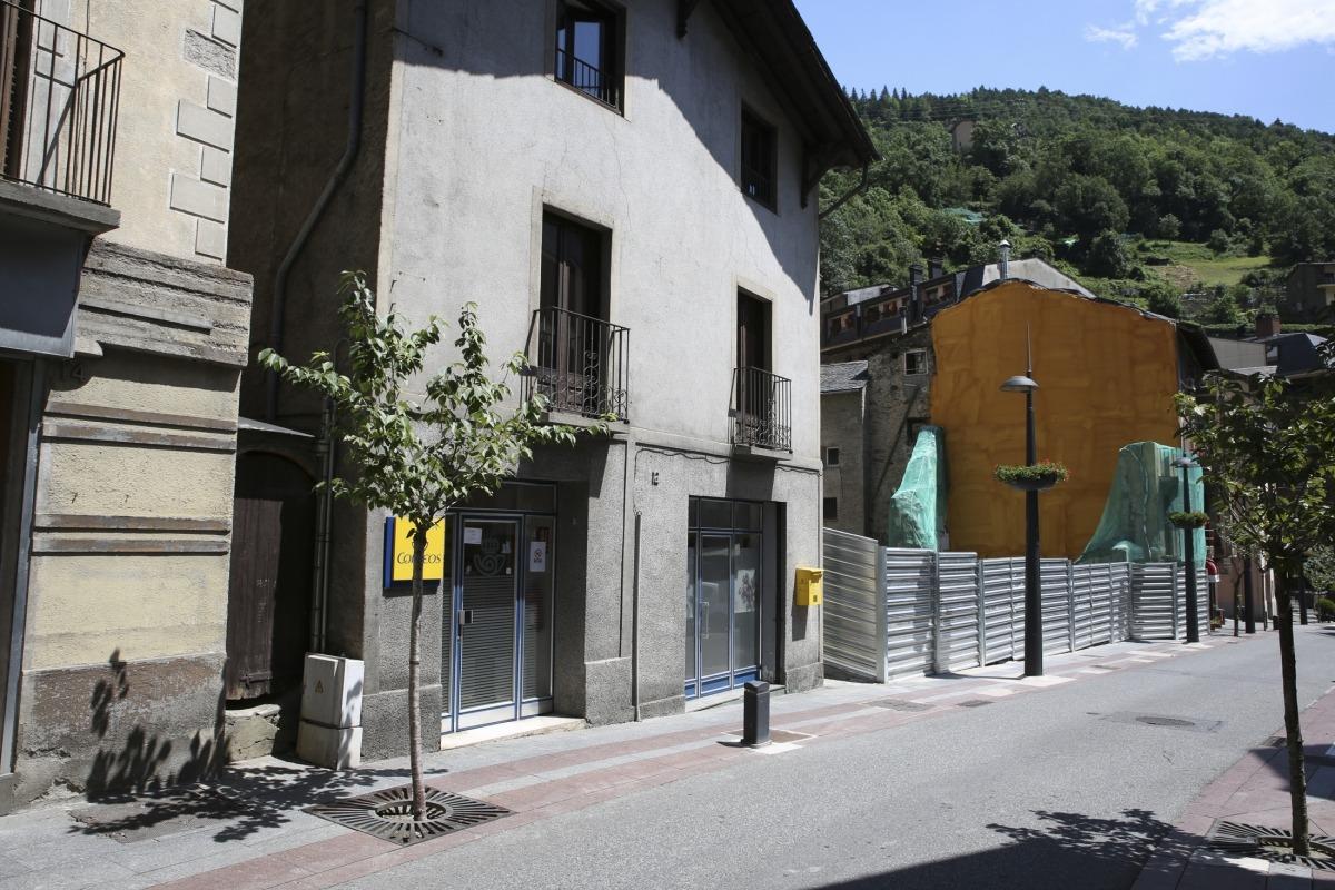 Imatge de la plaça Major de Sant Julià de Lòria presa ahir.