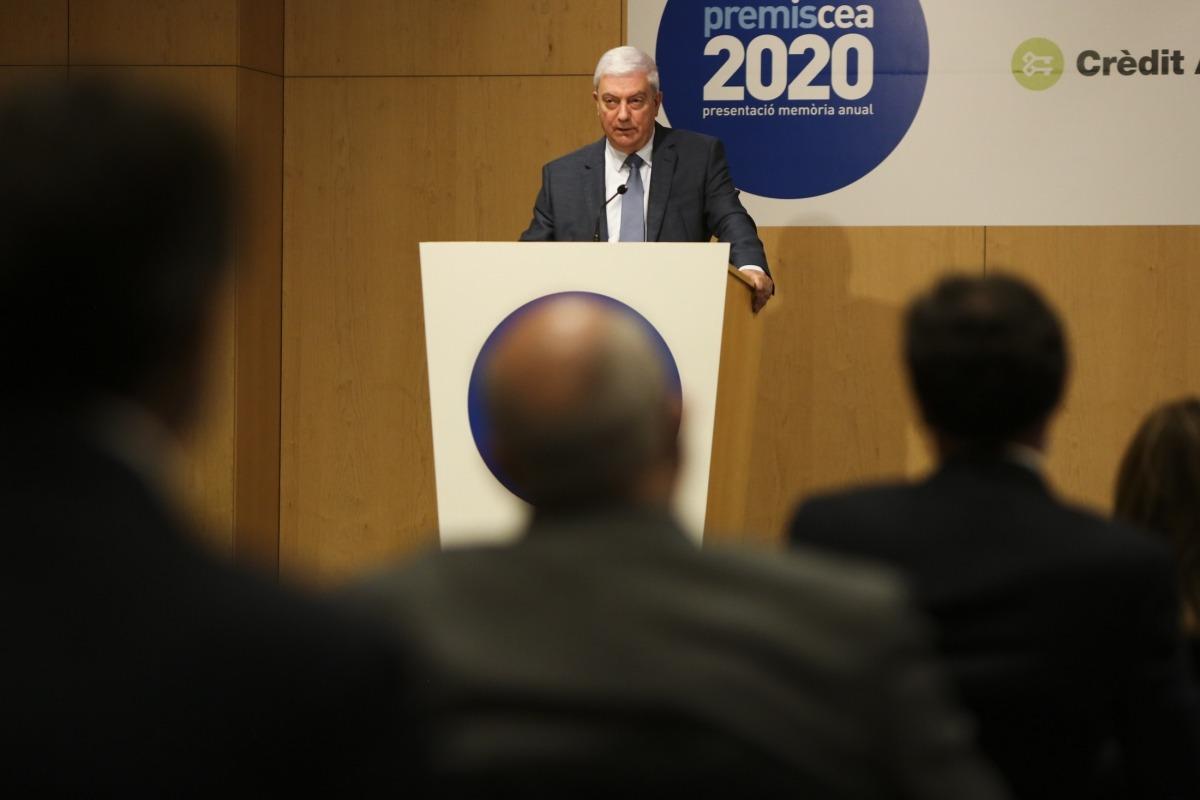 El president de la CEA, Gerard Cadena, en un moment de la seva intervenció.