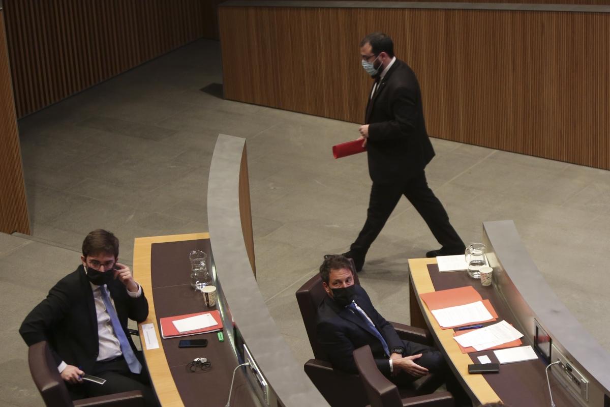 Els consellers generals socialdemòcrates en una sessió parlamentària.