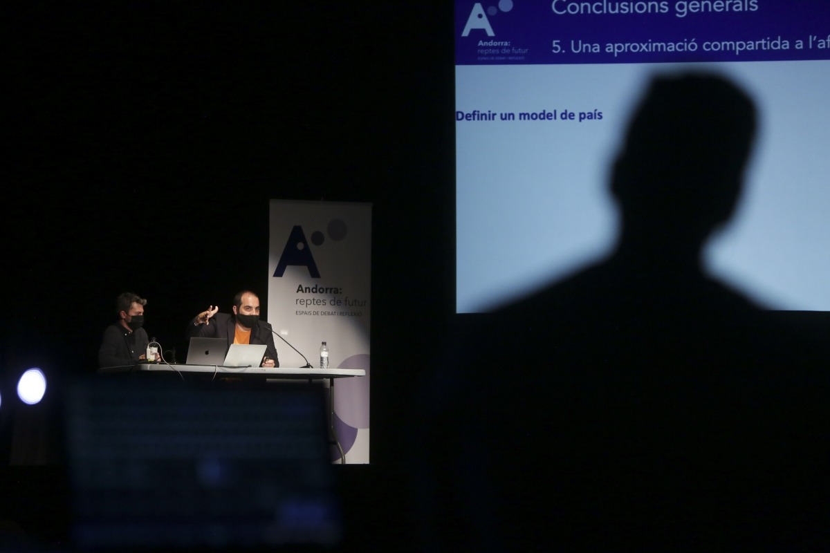 Un moment de la presentació de les conclusions de la iniciativa Andorra: reptes de futur.