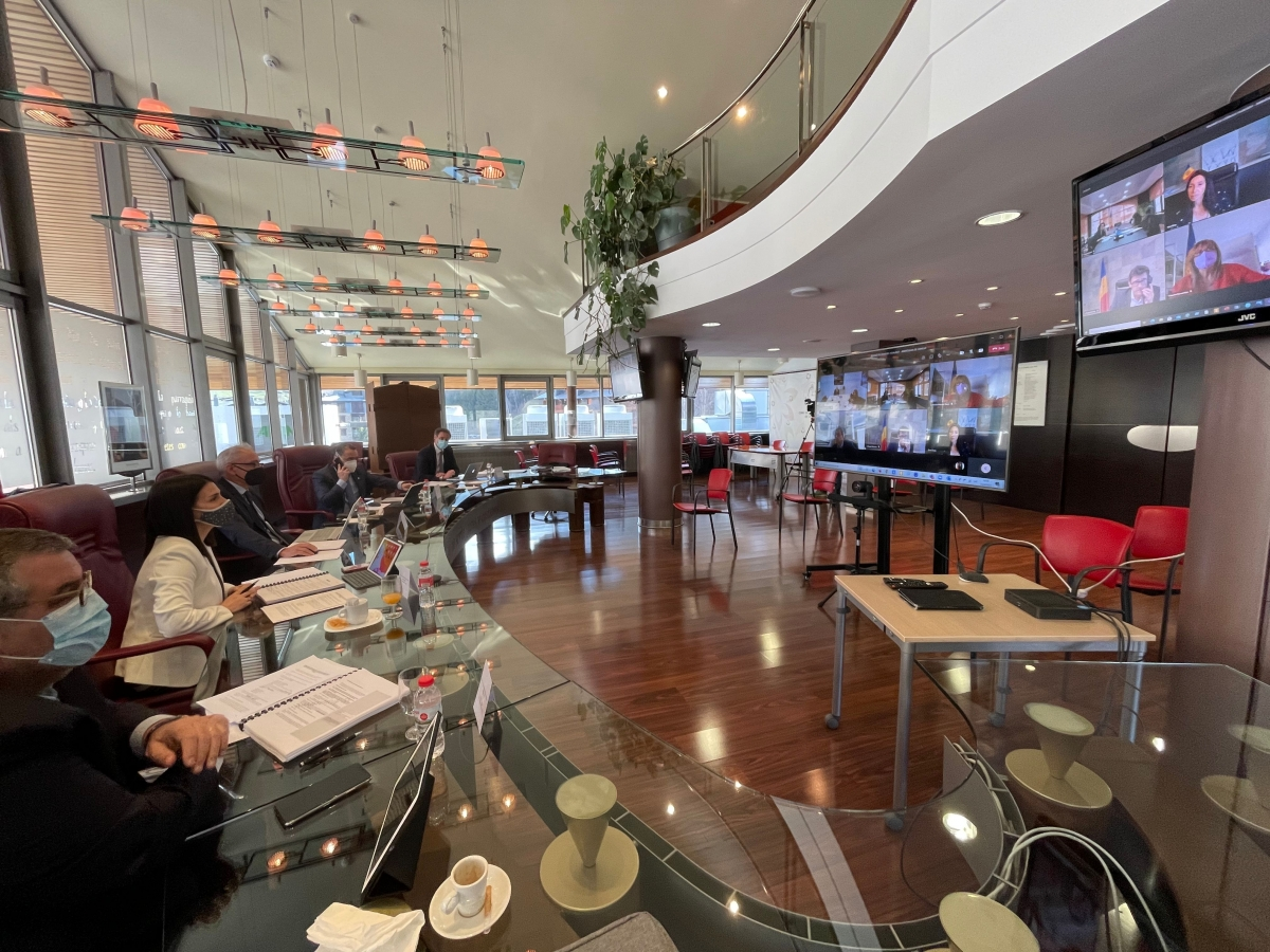 Un moment de la reunió de cònsols celebrada aquest dijous a Canillo.