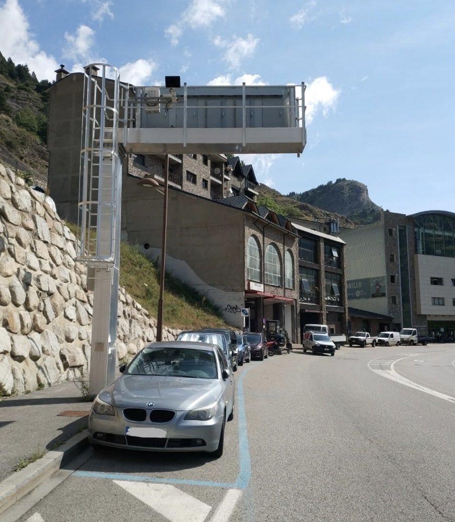 El nou radar instal·lat en el tram entre Canillo i Encamp.