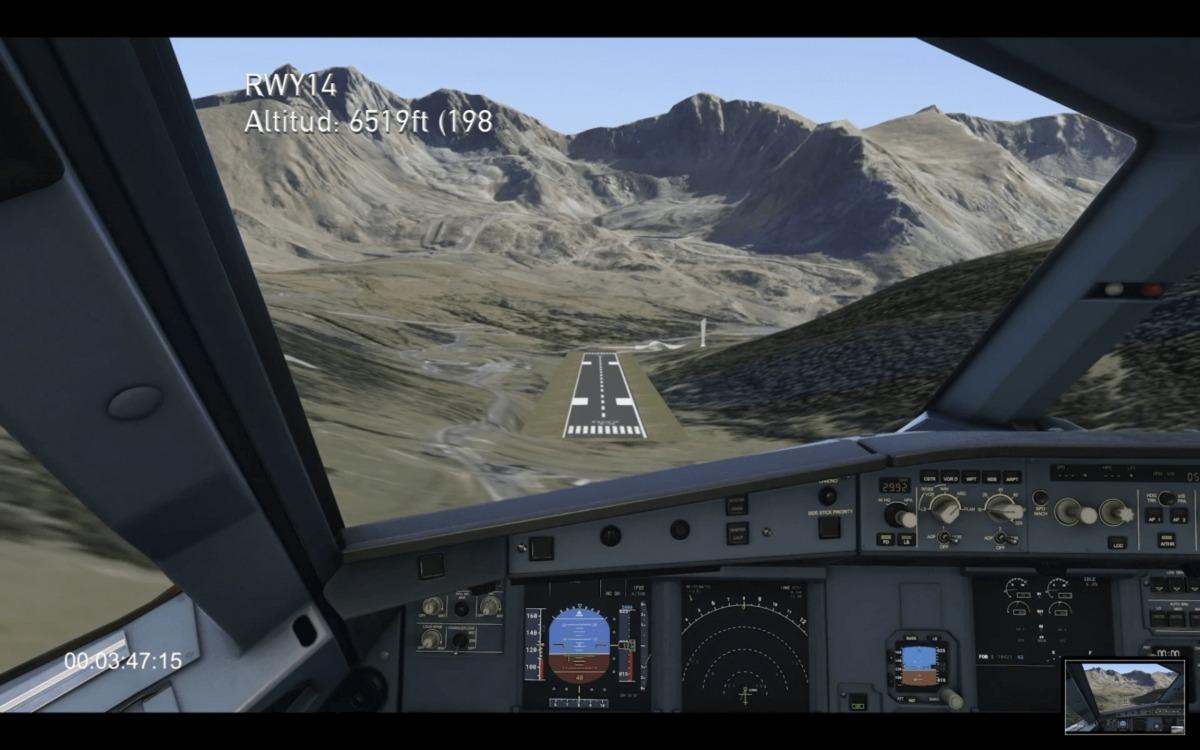 Simulació del projecte de l'aeroport de Grau Roig.