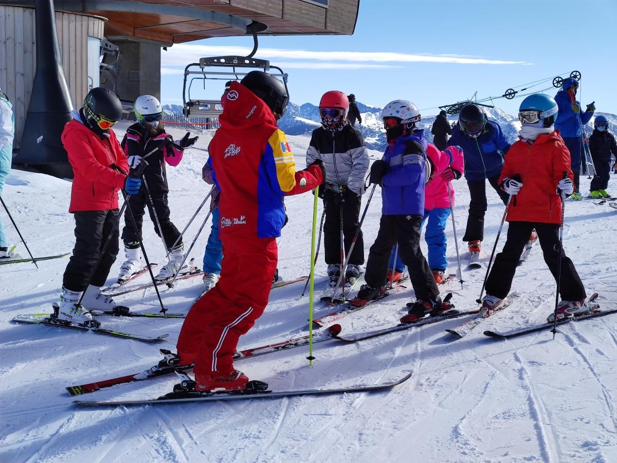 Una classe d'esquí a Pal Arinsal en una imatge d'arxiu.