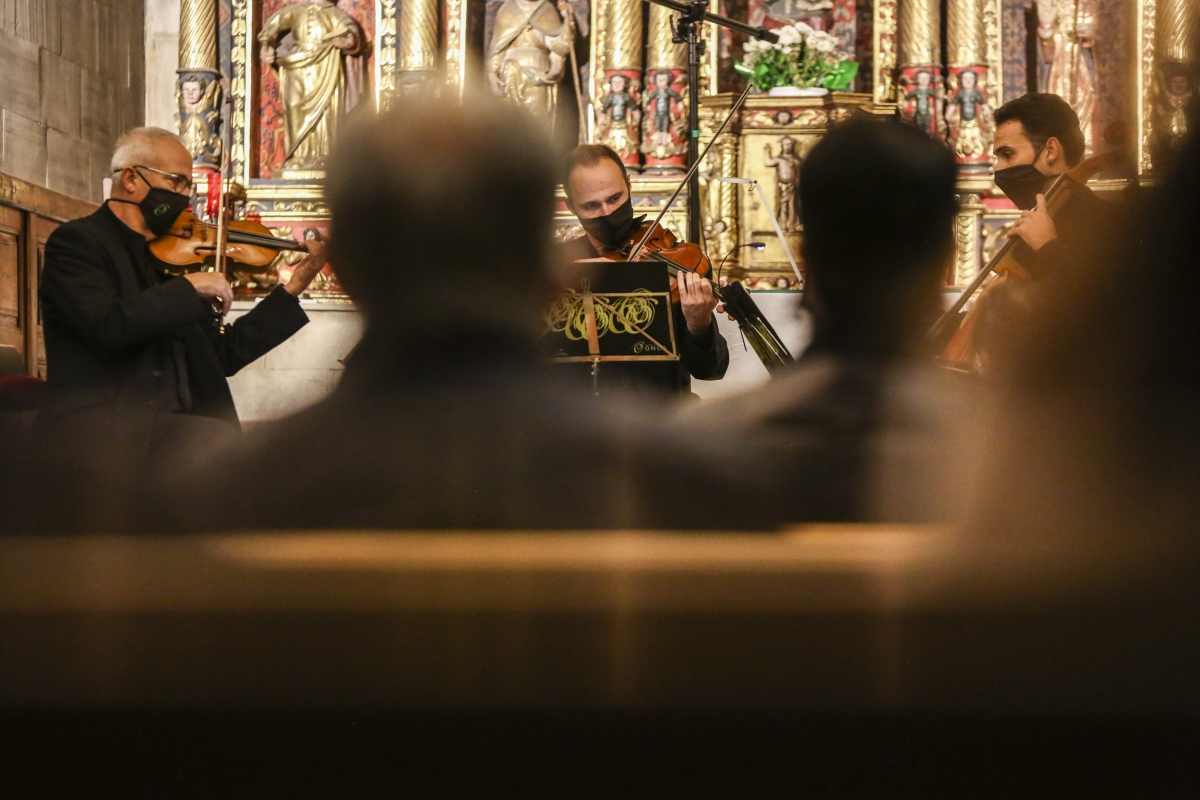 L'actuació del Trio Claret a l'església parroquial d'Ordino.