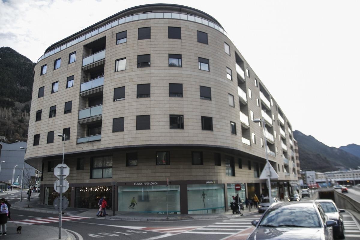 Una imatge de l'edifici, al carrer número 4 del Clot d'Emprivat d'Escaldes-Engordany.