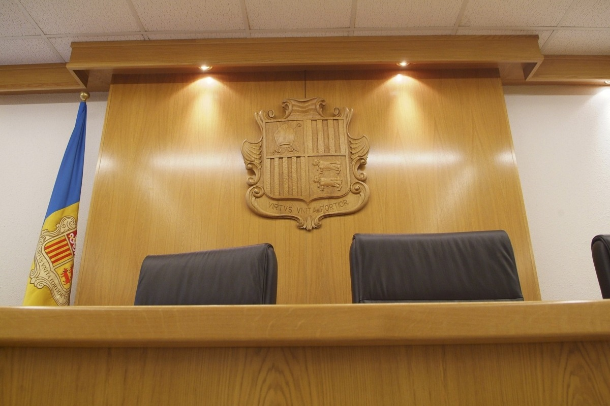 Vista d'una sala de tribunals.