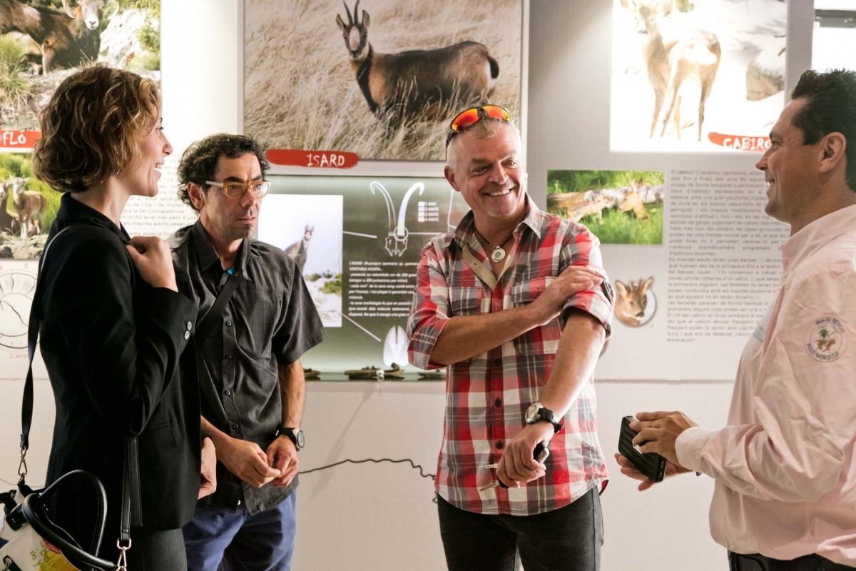 Mostra sobre la fauna salvatge que viu al parc del Comapedrosa