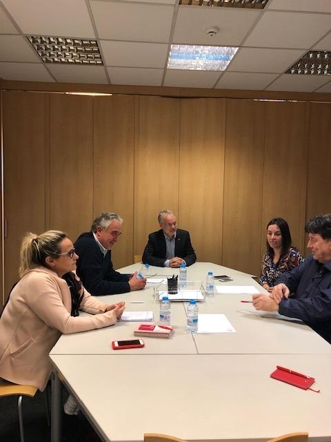 Reunió entre Progressistes-SDP i Assandca, ahir.