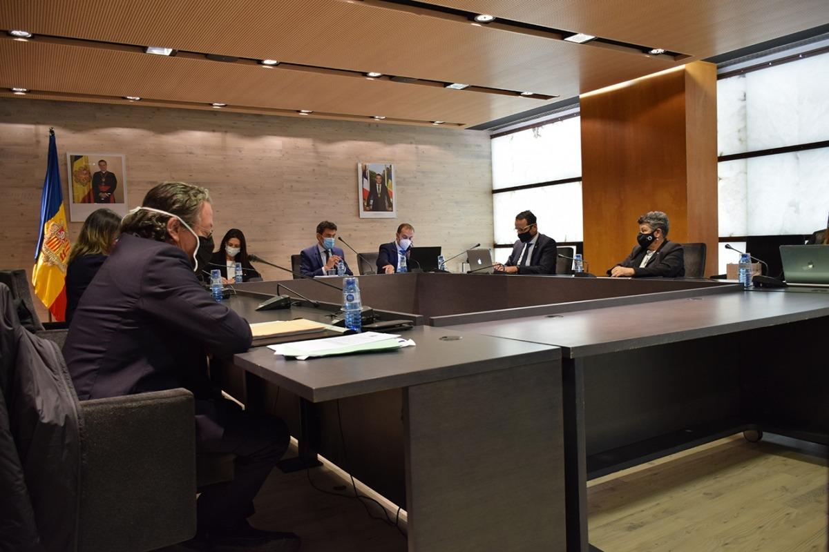 Un moment de la sessió de consell de comú d'aquest dijous a Ordino.