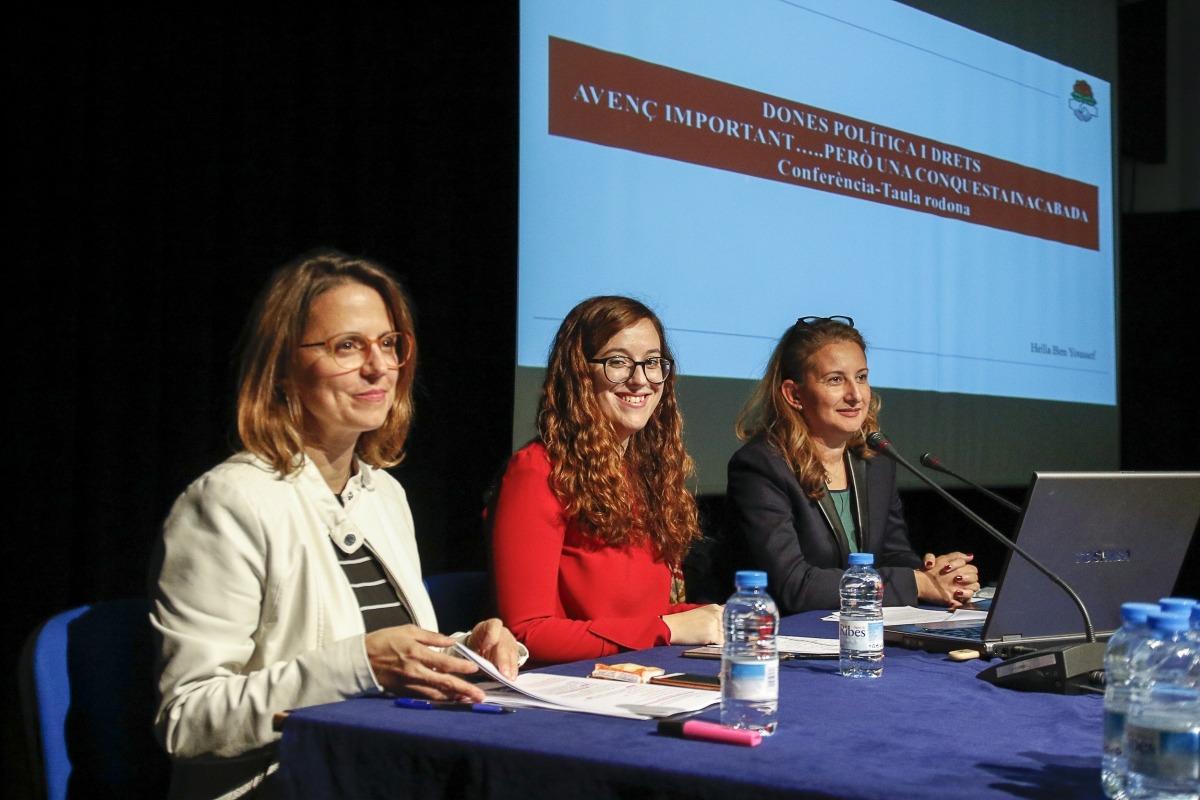 Les ponents, Rosa Gili, Liliana Ribeiro i Hella Ben Youssef, ahir.