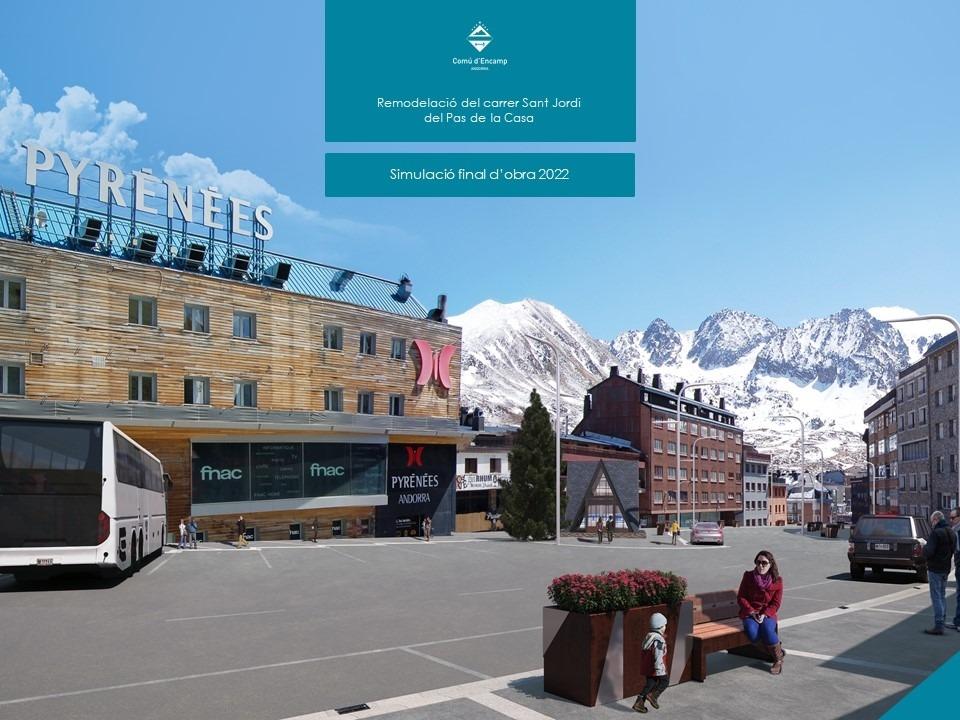 Simulació de com quedarà el carrer Sant Jordi un cop fets els treballs de remodelació.