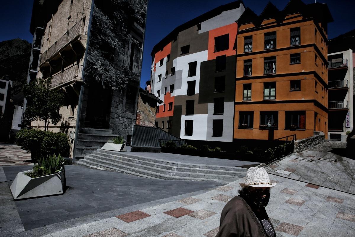 La parcel·la de l'antic hotel Pla, a la part alta d'Escaldes-Engordany.
