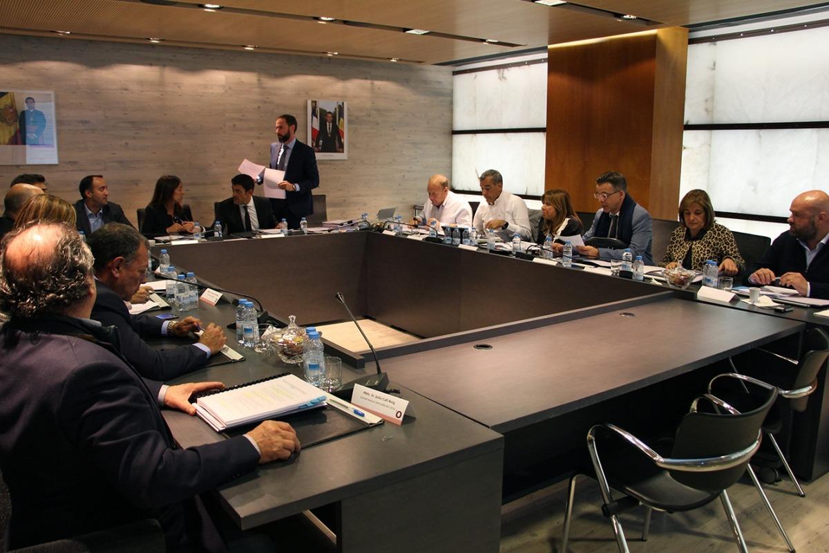 La reunió de cònsols va tenir lloc al Comú d'Ordino, ahir.
