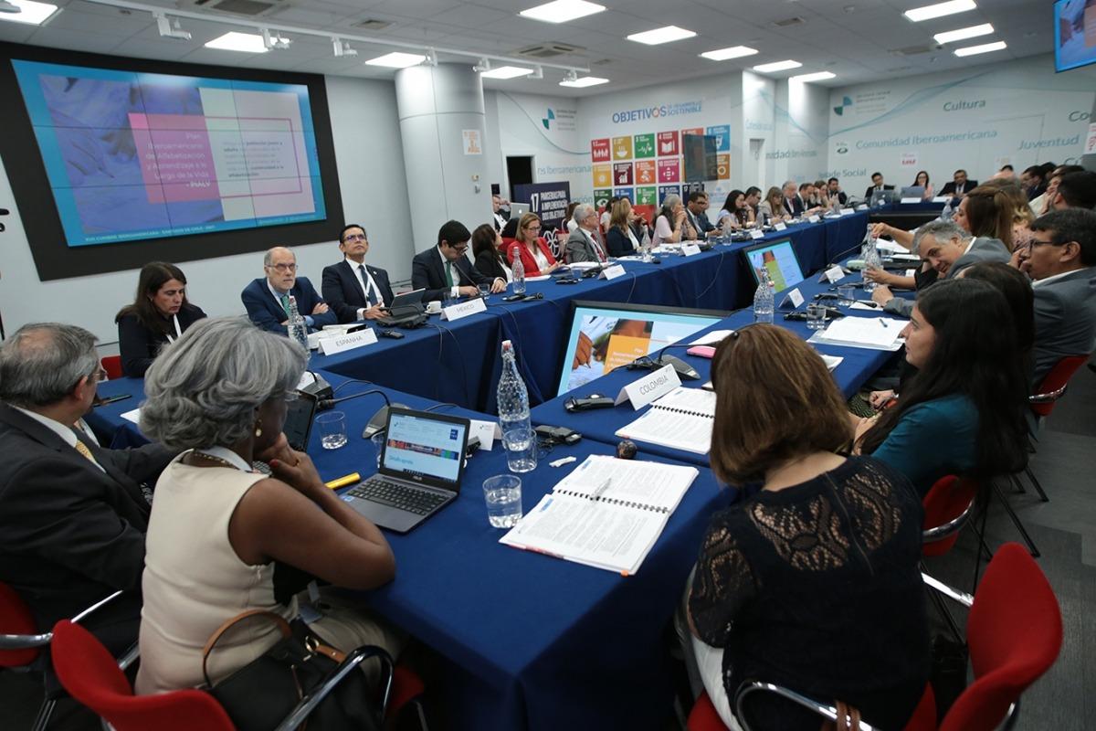 Els coordinadors nacionals i responsables de cooperació durant la reunió a Madrid.