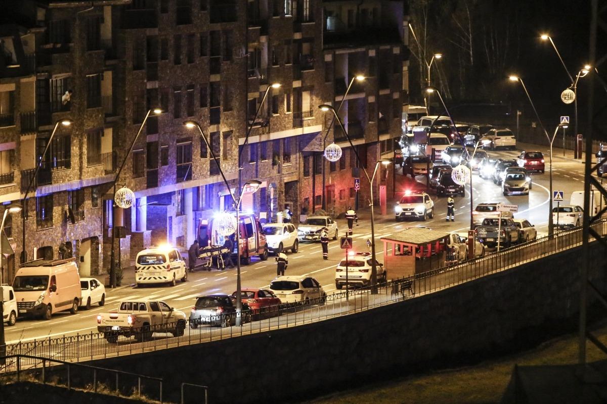 L'accident de la Massana s'ha produït cap a les 8 del vespre.