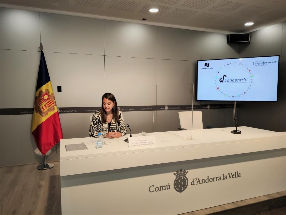 La consellera Meritxell López en la presèntació del Concèntric, aquest matí.